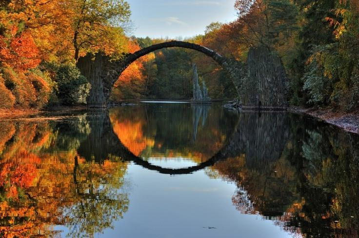 توهم تصویری در Kromlau، آلمان