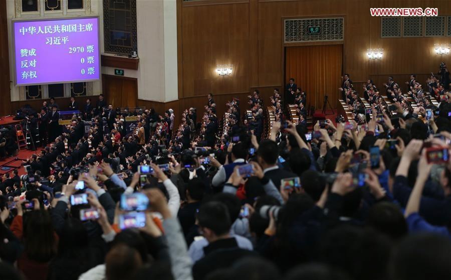 شی جین پینگ برای دومین بار رییس جمهوری چین شد