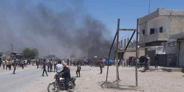 انفجار خودروی بمب گذاری شده در شهر تل ابیض