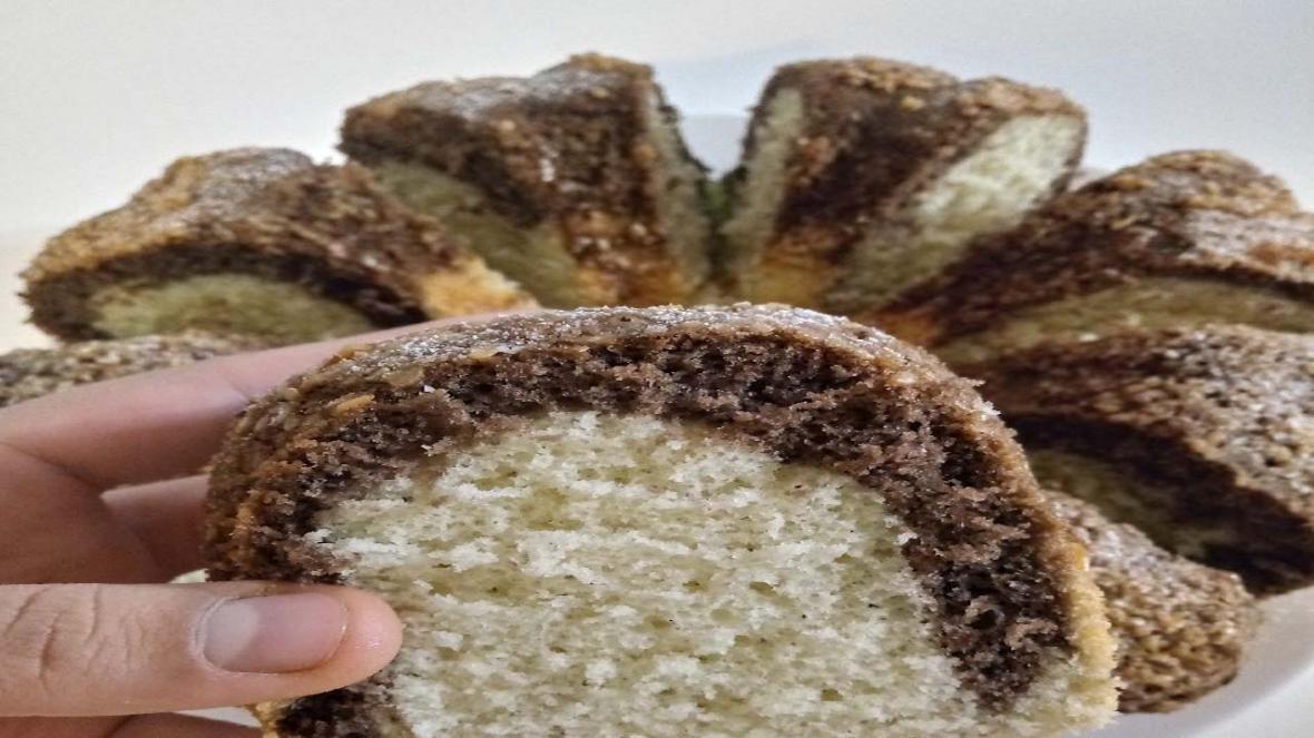 کیک شیفون دورنگ