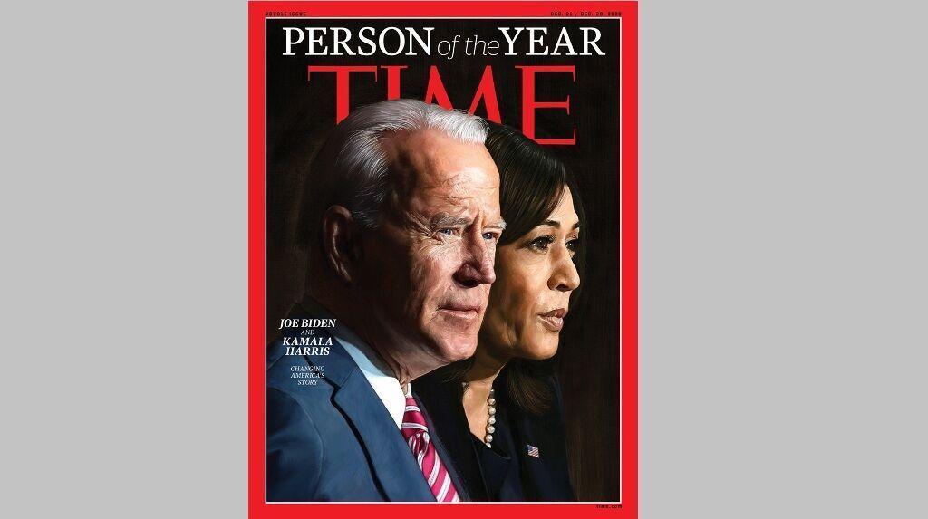 بایدن و هریس چهره سال نشریه تایم انتخاب شدند