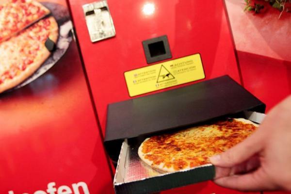 سفر به آمریکا: اولین دستگاه خودپرداز پیتزا
