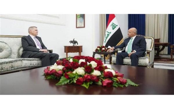 سفیر آمریکا به دیدار رئیس جمهوری عراق رفت