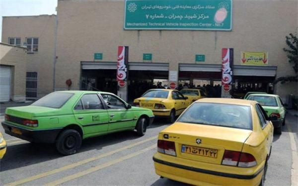 معاینه فنی تاکسی ها در تهران رایگان شد