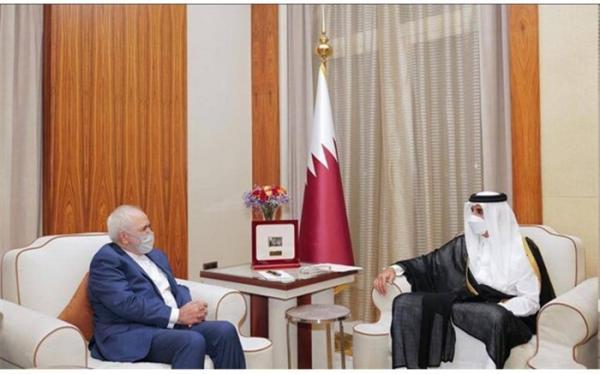 ظریف، ظرفیت های موجود برای گسترش مناسبات ایران و قطر را مثبت ارزیابی کرد