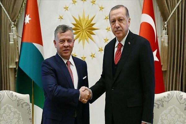 رئیس جمهور ترکیه و پادشاه اردن مصاحبه کردند
