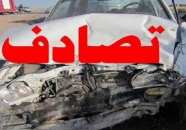 تصادف خاور و دو خودروی سواری در بزرگراه آزادگان